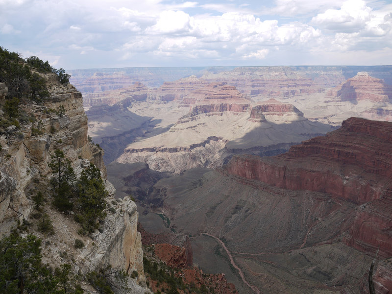 Monument Creek flows into the Grand Canyon as viewed from the Abyss.