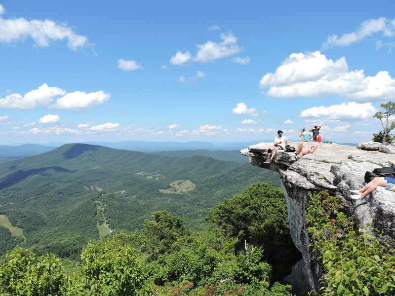 McAfee Knob is the perfect place to rest and enjoy the view.