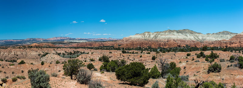 Enjoy a panoramic view of Kodachrome Basin State Park and Bryce Canyon National Park.