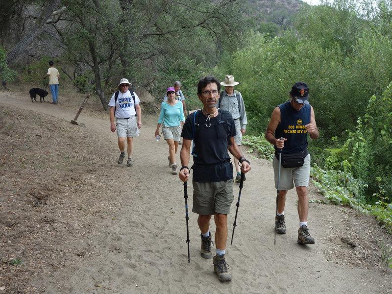 Hikers make their way up the Santa Margarita River Trail.