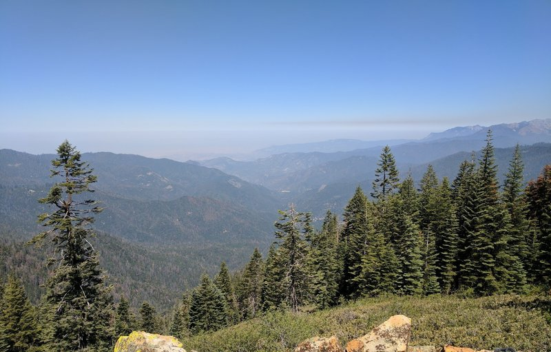 Enjoy the view from 8200' near the top of the Bear Creek Trail looking west.