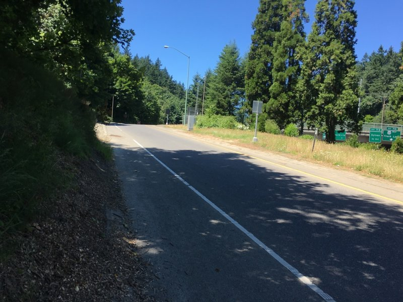Making it to Washington Park requires crossing a few city streets. Most are easy, but one includes a highway onramp. Crosswalks in this section are unmarked, and only partially include sidewalks, but trail markers are posted.