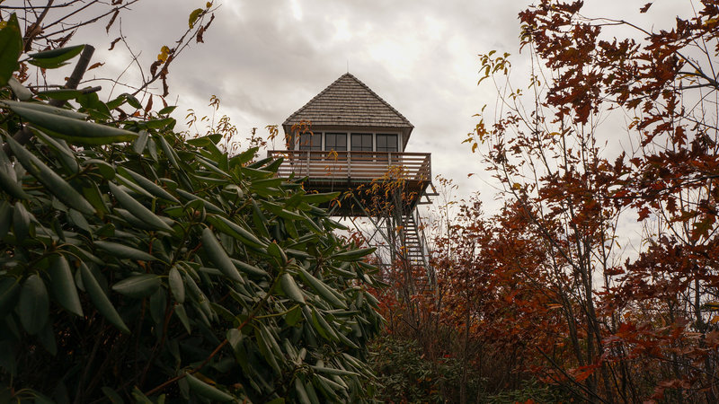 The Green Knob Lookout Tower.