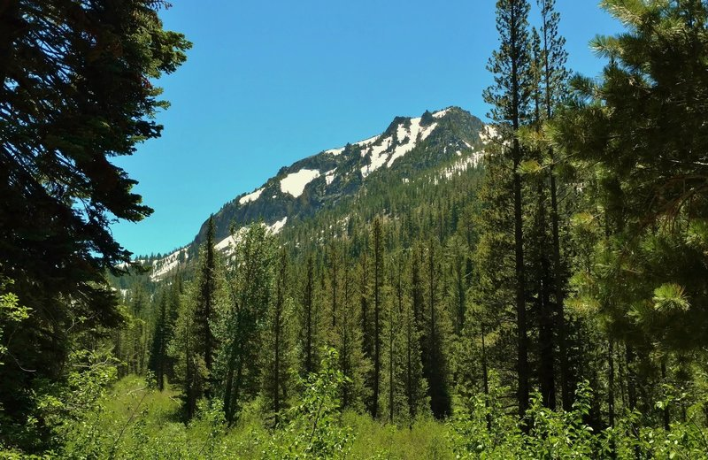 Loomis Peak stands over the Manzanita Creek Trail.