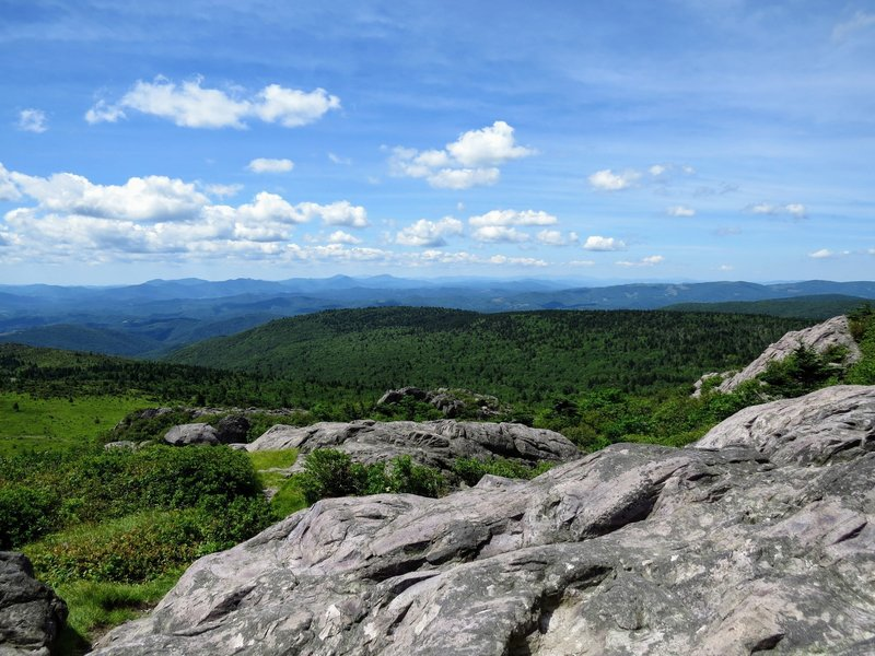 Enjoy great views of the surrounding Blue Ridge Mountains from Pine Mountain.