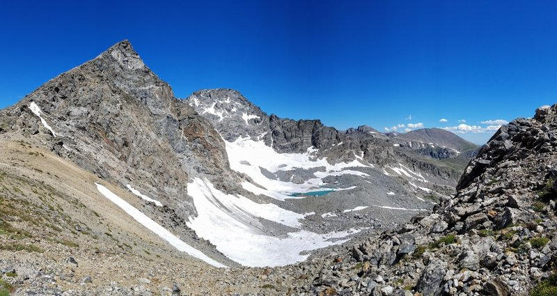 Arapahoe Glacier is simply stunning.