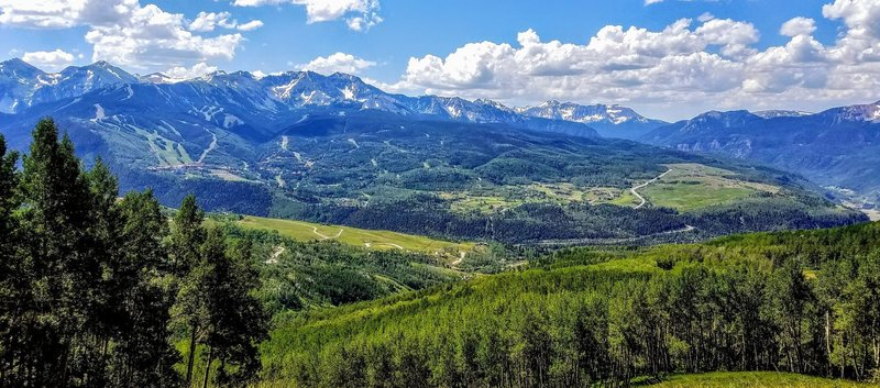 Revel in the views of Telluride Ski Resort and Mountain Village from the Deep Creek Trail #418.