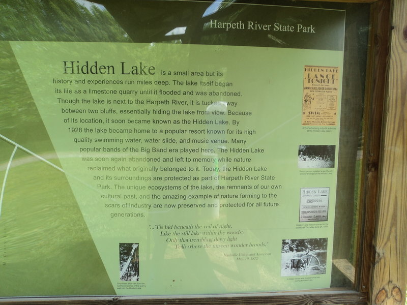 The story of Hidden Lake awaits curious minds at the trailhead kiosk.