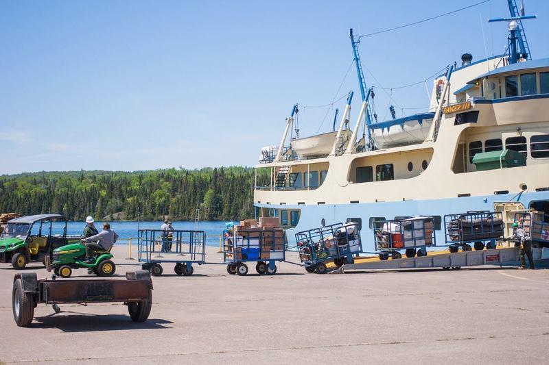 Ranger III unloads at Mott Island.
