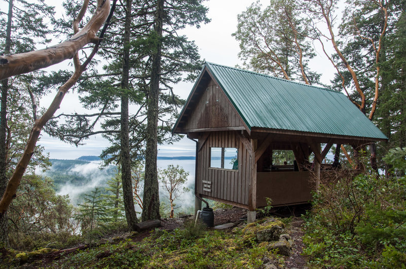 The Manzanita Hut provides a fantastic view over the water below.