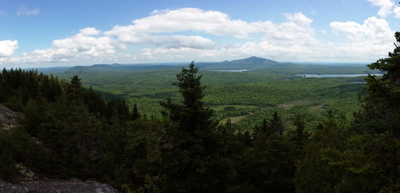 This is the east view from the summit of Sugarloaf Mountain looking at Mount Chase.