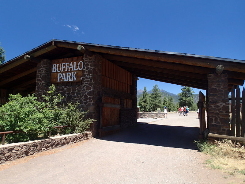 This large structure marks the entrance to Buffalo Park.