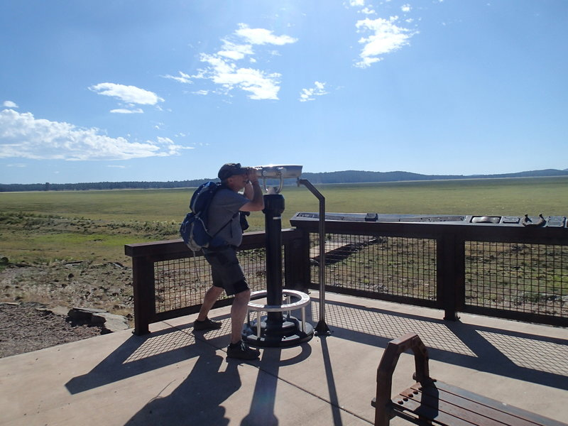 The northern viewpoint offers great views and this fun telescope.