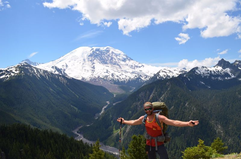 Mount Rainier really shines from the Northern Loop just past the Lake Eleanor Trail junction.