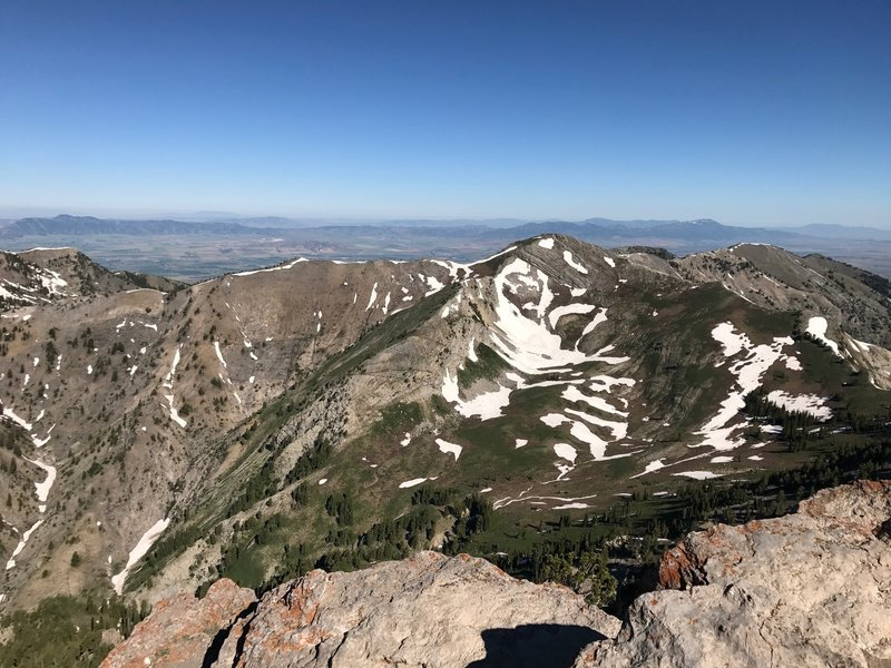 Enjoy this view from the top of Mt. Naomi looking towards Cherry Peak.