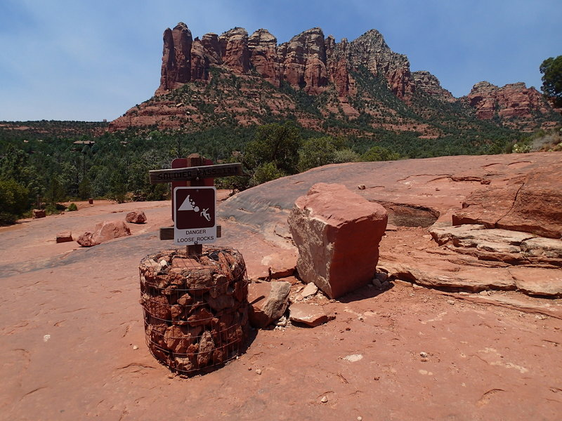 This is the trail junction of the Jordan Trail and Soldier Pass Trail.