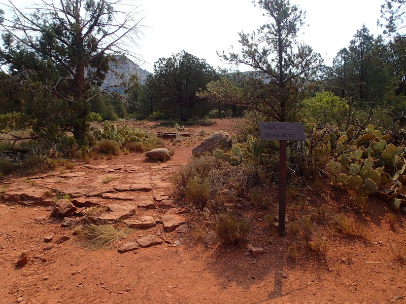 This sign marks the trailhead at Vultee Arch Road.