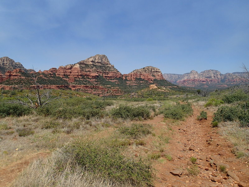 Experience great views from the top of the Brins Mesa Trail.