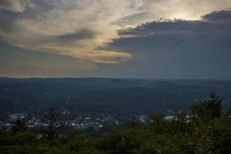 Brattleboro is gorgeous from the top of Wantastiquet Mountain during sunset.