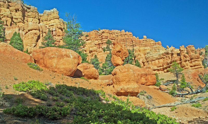 The Castle Bridge Trail passes by one fantastic rock formation after another for its entire length.