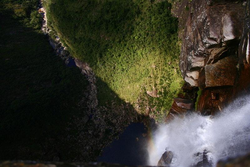Tabuleiro Waterfall from its summit.