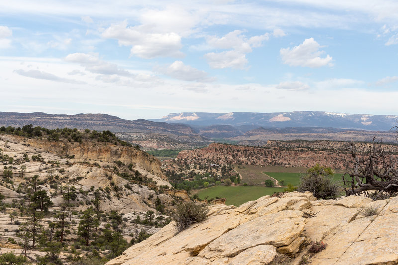 Escalante and Barney Top are spectacular from the Boulder Mail Trail.