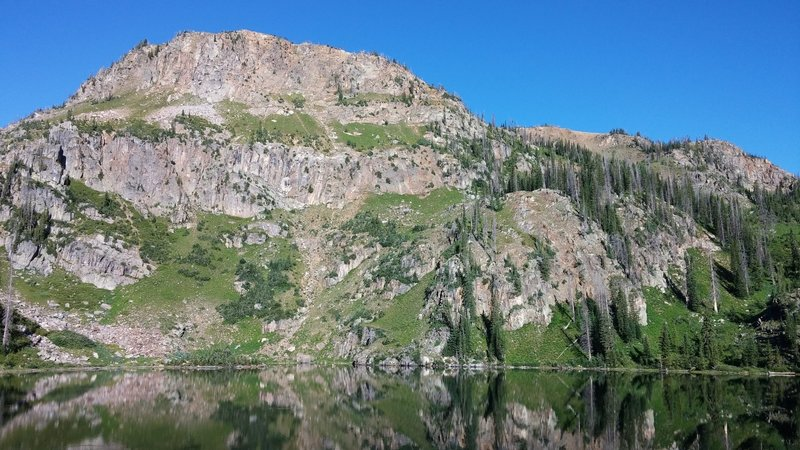The view of Bighorn Lake at the end of the trail.