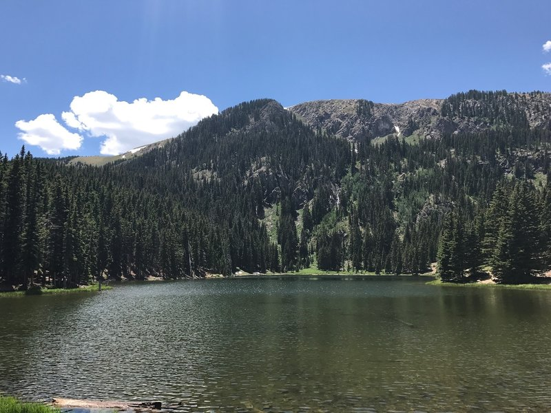 Middle Fork Lake in June.