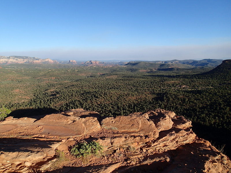 Looking towards Cathedral Rock and Courthouse Butte