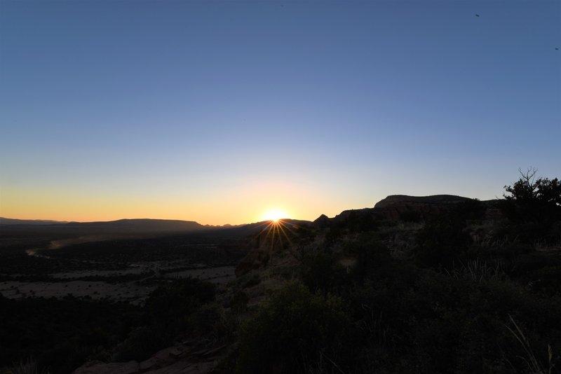 Sunset location on Doe Mountain.