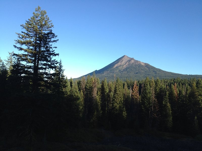 Mt McLoughlin from High Lakes Trail.