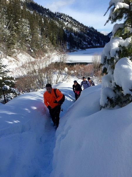 """Taken during the free """"Cowbell Race Series: Soup In the Snow"""" event the first Sat. in February"""