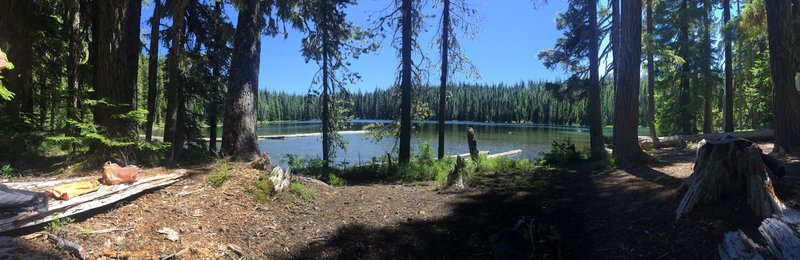 Pano view of Midnight Lake from Camp.