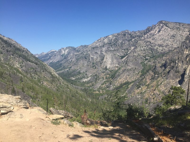 Views of Blodgett Canyon from the Overlook Ridge.