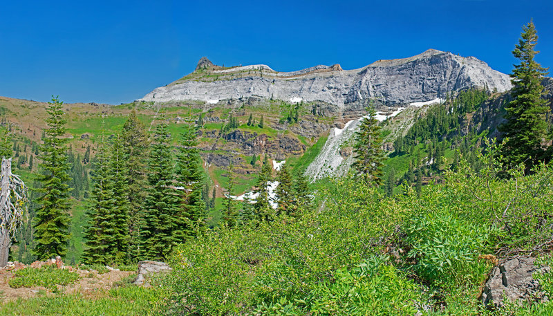 The rugged back side of Marble Mountain. Black Marble Mountain sticks up on the left.
