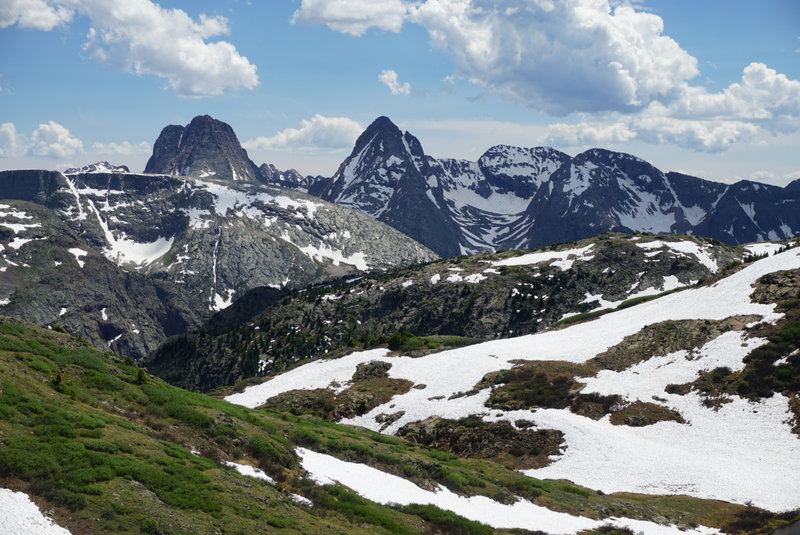 Exceptional views of the remote Grenadier Range abound along the Continental Divide.