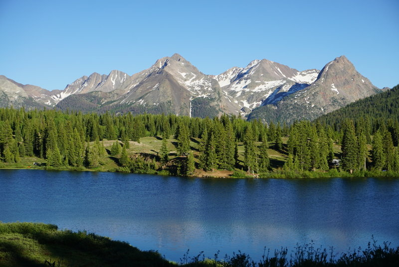 Views from Molas Lake, just a short jaunt from the Colorado Trail.