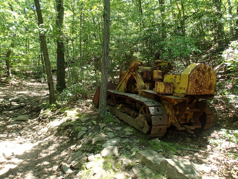 Old bulldozer at the junction with the Fishkill Ridge Trail