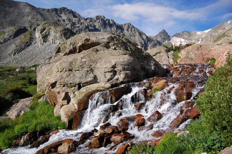 Waterfall views along the trail