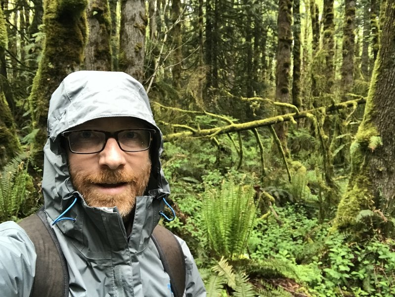 Squac 1 enjoying the weather on the May Valley trail on Squak Mountain!