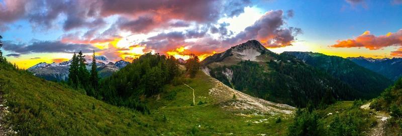Undoctored photo of sunset