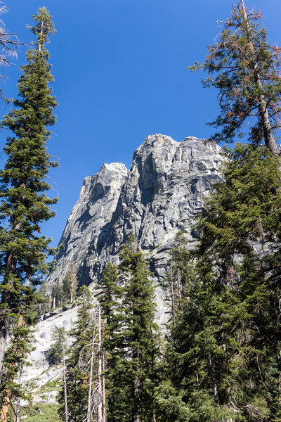 The Watchtower from the Tokopah Falls Trail