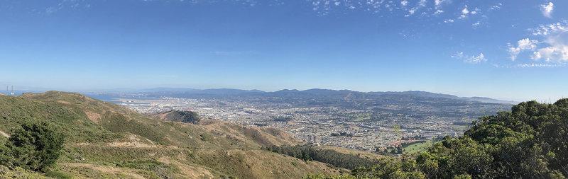Views of San Bruno, SFO, and the peninsula.