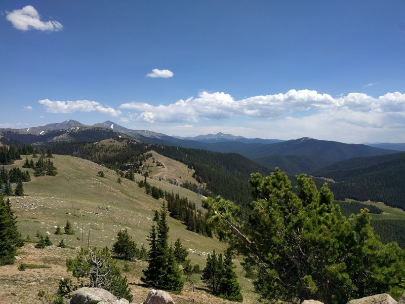 Looking south at the top of Monarch Ski Area.