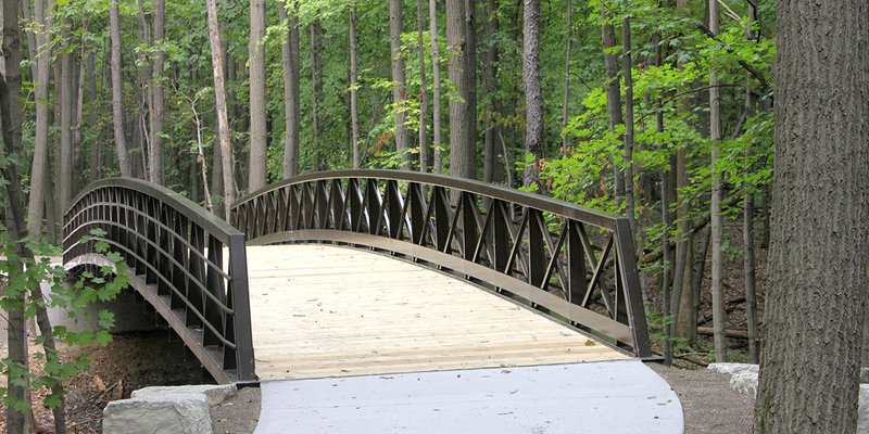 Bridge at the newly opened Fallen Timbers Metropark