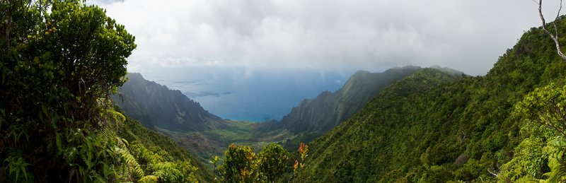 The views from the Pihea are pretty amazing!