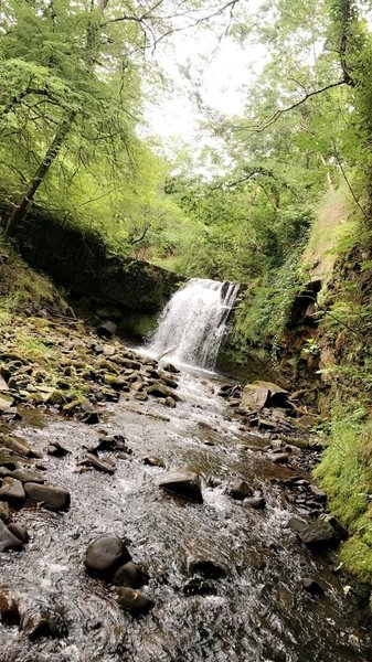 One of the waterfalls along the Cwm Gwrelych Geo Heritage Trail