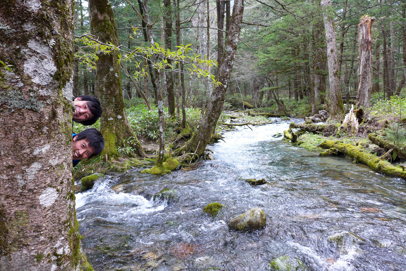 Acting up along the beautiful Kamikochi Trail
