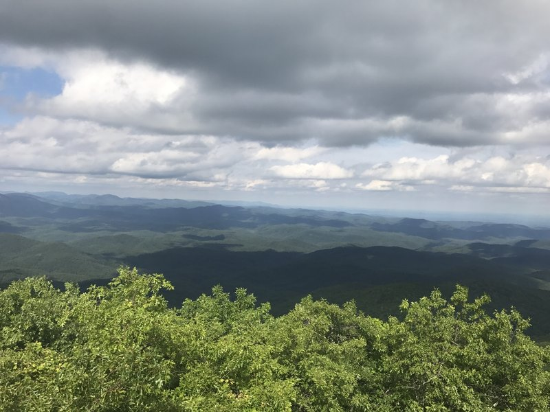 Summit of Rabun Bald - Three Fork Trails
