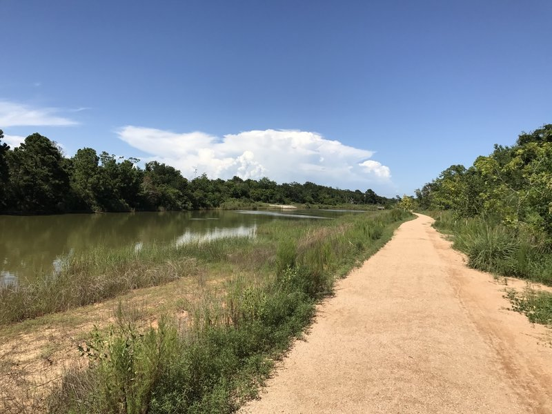 Trail along the water.